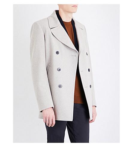 REISS Ellis wool-blend peacoat (Grey