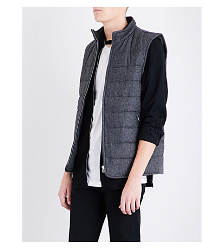 REISS Frankie wool-blend gilet (Grey