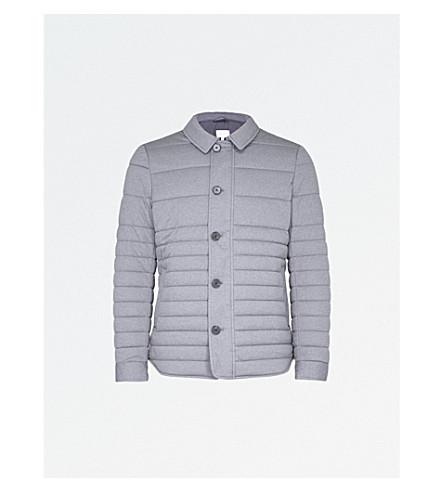REISS Melbourne quilted shell jacket (Grey+melange