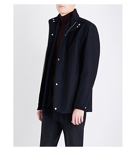 REISS Atwood cotton-canvas jacket (Navy