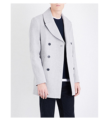 REISS Henley wool-blend coat (Grey