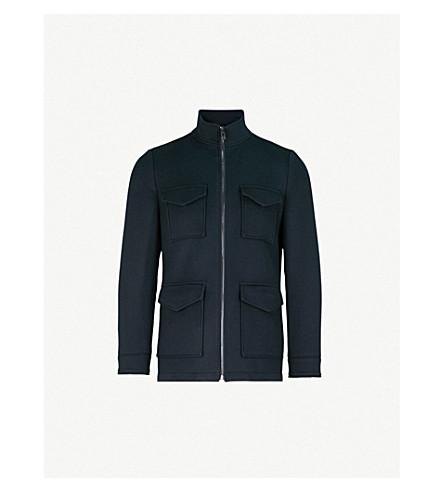 REISS Chiltern wool jacket (Navy