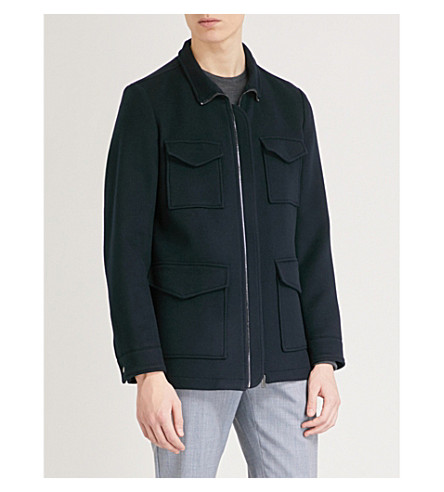 REISS Chiltern wool jacket (Navy