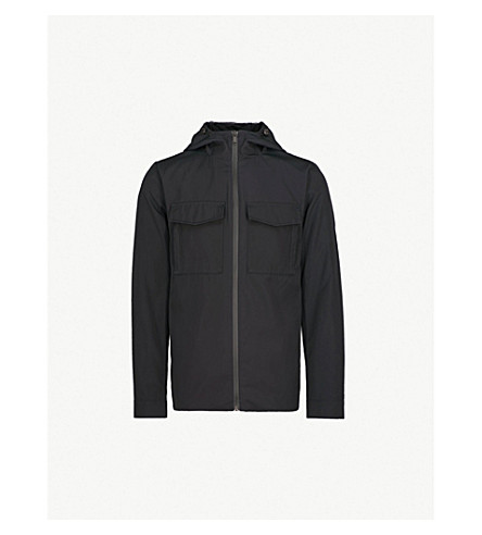 REISS Delphino hooded shell jacket (Navy