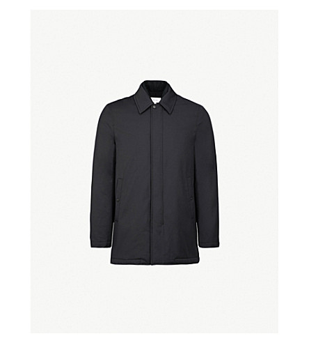 REISS Moggio cotton-blend coat (Navy