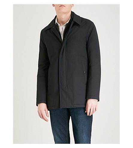 REISS Moggio cotton-blend coat (Navy