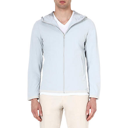 REISS Zidane suede-trim anorak (Grey