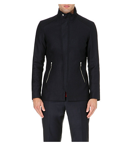REISS Raekon twill technical jacket (Navy