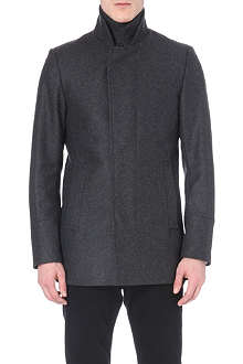 REISS Concealed placket coat