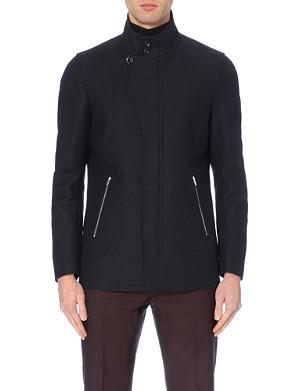 REISS Funnel collar jacket