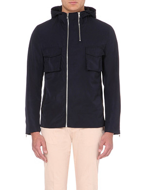 REISS Kenny double-zip hooded shell jacket