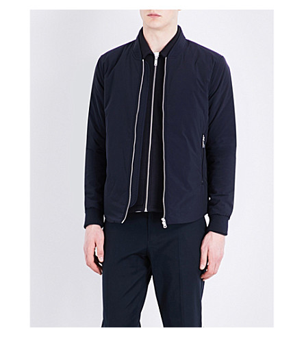 REISS Cherry stand-collar bomber jacket (Navy