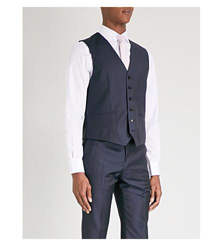 REISS Harry modern-fit wool waistcoat (Navy