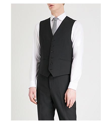 REISS Bravo W modern-fit wool waistcoat (Black