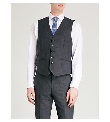 REISS Daze W slim-fit wool waistcoat (Navy