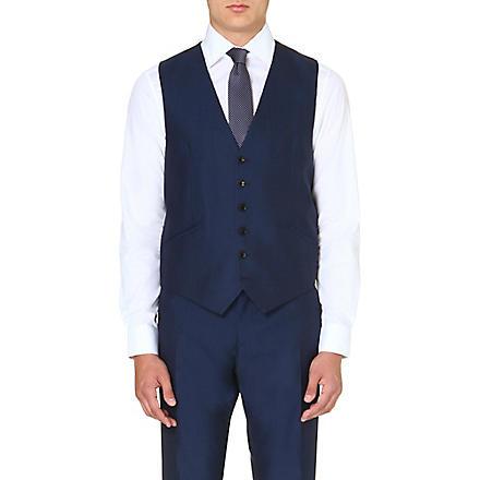 REISS Classic fit waistcoat (Blue