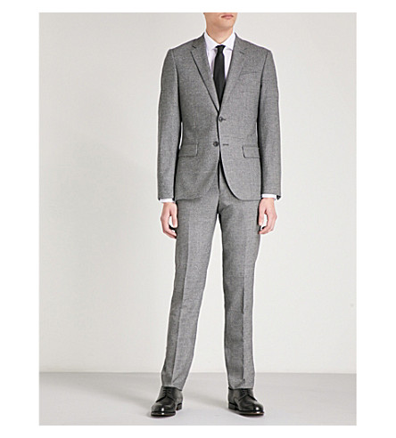 REISS Bronson slim-fit tapered wool trousers (Charcoal