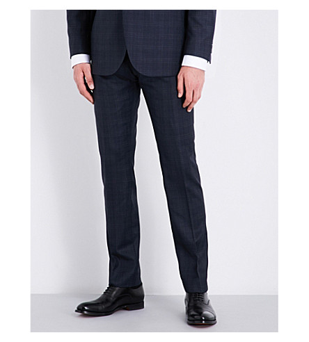 REISS Chester modern-fit wool trousers (Navy