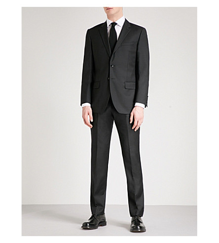REISS Harry modern-fit straight-leg wool-blend trousers (Black