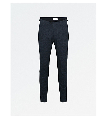 REISS Haven woven trousers (Navy