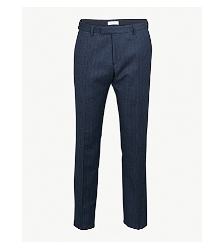 REISS Ossian wool trousers (Indigo