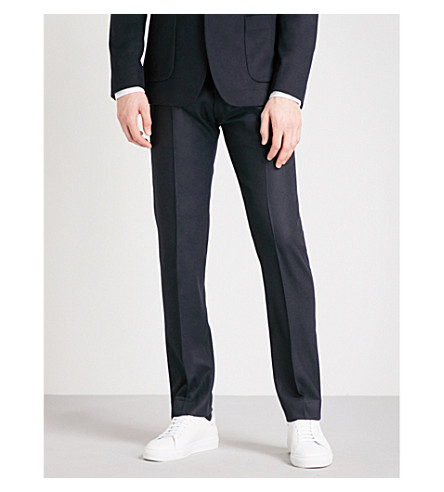 REISS Martian classic-fit wool-blend trousers (Navy