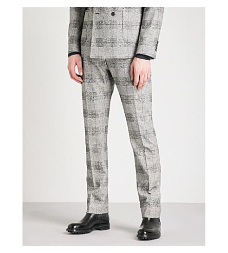 REISS Bragg slim-fit cotton-blend trousers (Grey