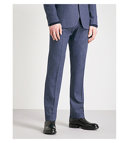 REISS Reynolds modern-fit wool-blend trousers (Airforce+blue