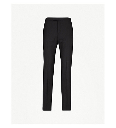 REISS Bravo T modern-fit wool trousers (Black