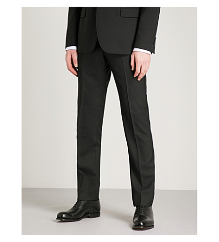 REISS Bravo T modern-fit wool trousers (Black