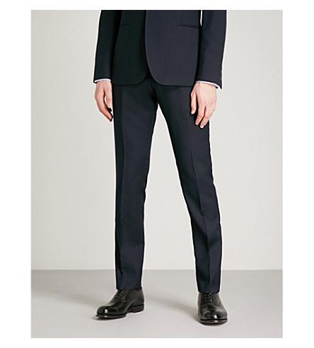 REISS Charlie T slim-fit wool trousers (Navy