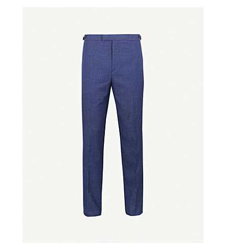 REISS Rover T slim-fit wool-blend trousers (Bright+blue