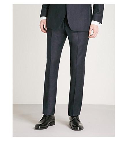 REISS Mason modern-fit wool trousers (Navy