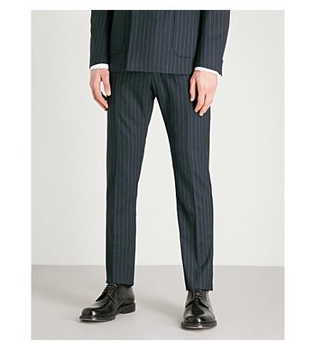 REISS Wonder pinstriped slim-fit wool trousers (Navy