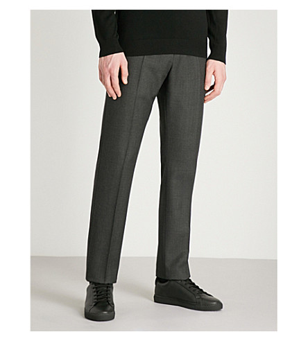 REISS Blackmore T modern-fit wool trousers (Grey