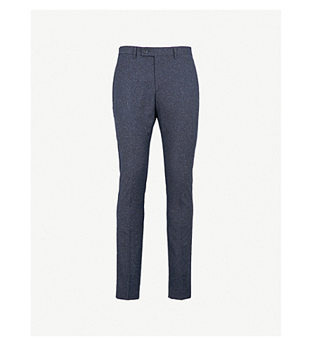 REISS Function slim-fit tapered woven trousers (Navy