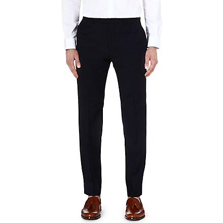 REISS Fairline T wool-mohair trousers (Navy