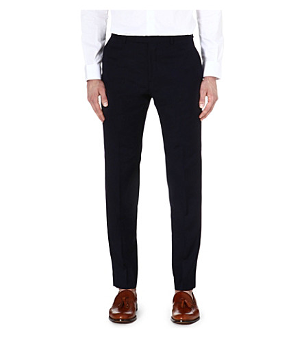 REISS Fairline T wool-mohair trousers (Navy