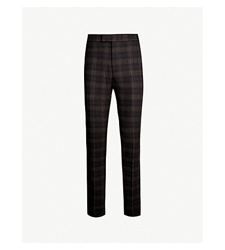 REISS 龙门客栈查询摩登版型羊毛混纺裤子 (海军