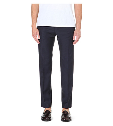REISS Daniel T wool trousers (Navy