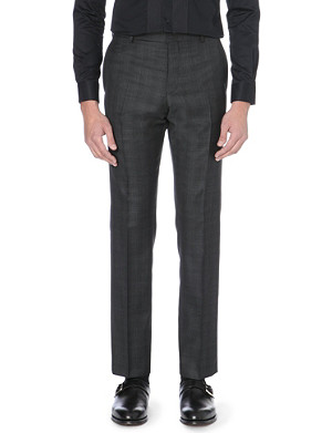 REISS Gilstone checked trousers