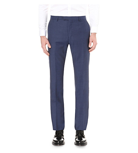 REISS Harry straight wool trousers (Airforce+blue