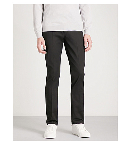 REISS Westbury slim-fit tapered stretch-cotton chinos (Black