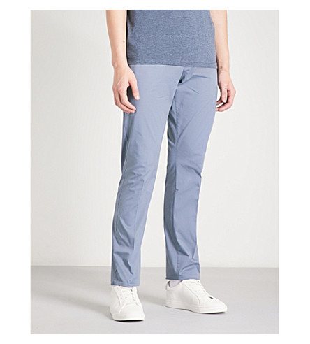 REISS Warick regular-fit stretch-cotton chinos (Airforce+blue