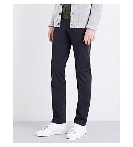REISS Friston slim-fit tapered stretch-cotton chinos (Navy