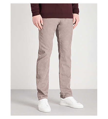 REISS Nevis slim-fit tapered corduroy trousers (Grey