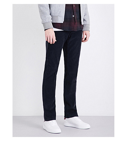 REISS Nevis slim-fit tapered corduroy trousers (Navy
