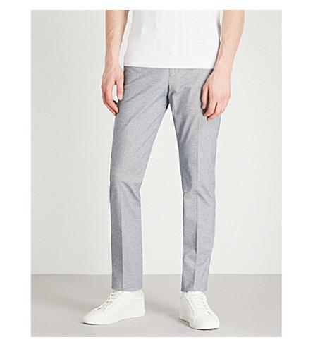 REISS Caspian slim-fit stretch-cotton trousers (Soft+blue