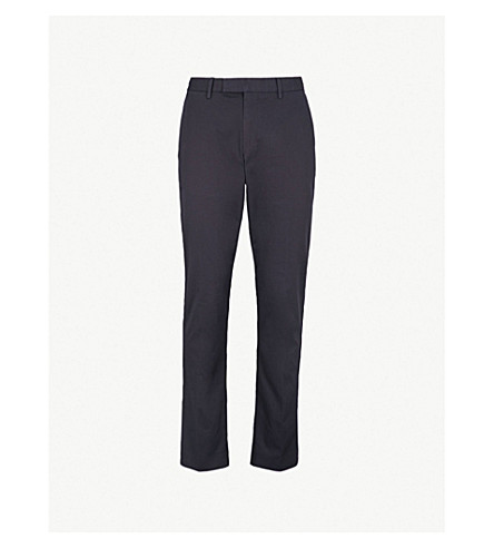 REISS Tanker slim-fit straight cotton-twill chinos (French+navy