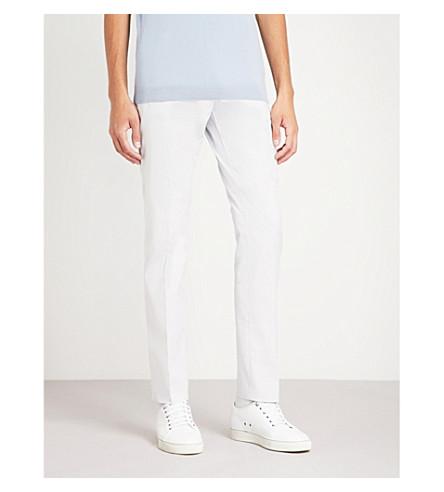 slim elástico azul de REISS de suave Pantalón recto algodón Lola t6nXFg4wqx